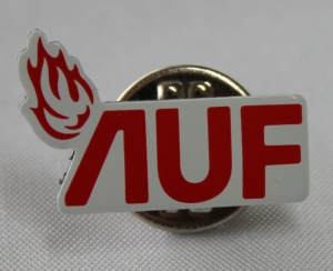 AUF jakke pin ny logo