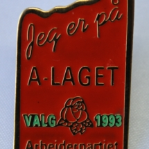 Arbeiderpartiet valgkamp pin 1993