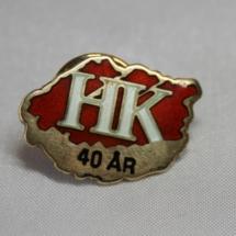 Handel og Kontor 40 års merke