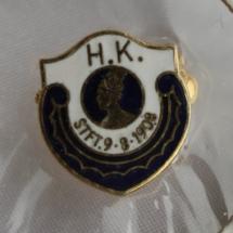 Handel og Kontor nålemerke tidlig logo nål