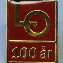 LO 100 års jubileums merke
