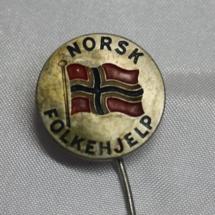 Norsk Folkehjelp Nålemerke med lang nål