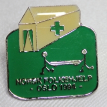 Norsk Folkehjelp Oslo Norway cup pin 1994