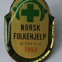 Norsk Folkehjelp merker Buskerud 1993