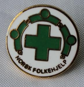 Norsk Folkehjelp merker medlems pin