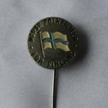 Norsk Folkehjelp for Finland nål