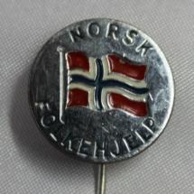 Norsk Folkehjelp nål med kort nål