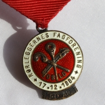Rørleggernes fagforening Oslo 50 års medalje