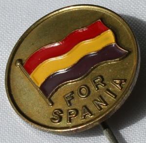Spania pin 1935 forløper til Norsk Folkehjelp merker