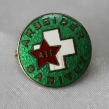 Arbeidersanitet nål ( 1932-1939) forløper til Norsk Folkehjelp