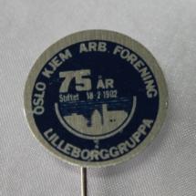 Oslo NKIF jakke merke 75 år 1977