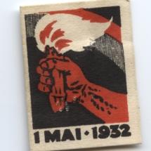 1 mai merke fra 1932 (OBS! er ikke i samlingen) men ligger i samlingen til Asbjørn Moen