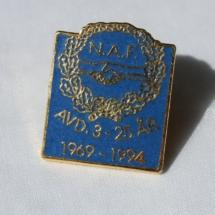 Norsk Arbeidsmannsforbund avd 3 25 års jubileumsnål 1994