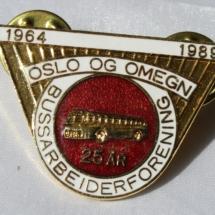 Oslo og Omegn bussarbeiderforening 25 år 1989