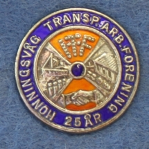 Honningsvåg Transport Arbeiderforening 25 års nål (Merket ligger i Karat sin samling)