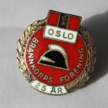 Oslo brannkorpsforening 25 års medlemskaps pin