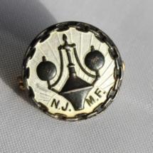 Norsk Jern og metall arbeiderforbund jakke nål gammel enkel med hvit emalje