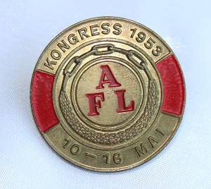 Arbeidernes faglige landsorganisasjon (nå LO)  Kongressmerke 1953