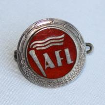 Arbeidernes faglige landsorganisasjon merke med fakkel (nå LO) Et av de første logomerkene i LO