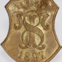 1 mai merke fra 1897 (OBS! Merke er ikke i samlingen, men ligger i samlingen til Baste Grøhn)