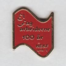 Norsk Elektriker og Kraftstasjons forbund Avd 1 100 års jubileums merke (Ikke i samlingen men ligger i samlingen til Aksel Rigmund Hjelland)