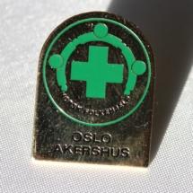 Norsk Folkehjelp merke fra Oslo og Akershus tidlig 90 tall