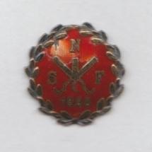 Norsk Støperiarbeiderforbunds nål (ligger i samlingen til Aksel Rigmund Hjelland)