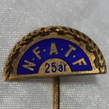 Norsk Forbund for arbeidsledere og tekniske funksjonærer NFATF 25 års medlemsnål