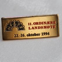 Norsk Forbund for arbeidsledere og tekniske funksjonærer - NFATF landsmøte nål 1994 (merke ligger i samlingen til Ralf Stahalke)