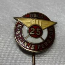 Oslo distrikts linjepersonell forening 25 års medlemskaps merke