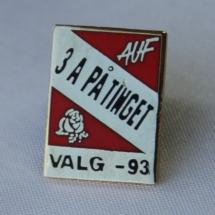Valgkamp pin fra Nord Trøndelag AP fra 1993