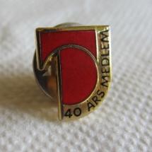 Tele og Dataforbundet 40 års medlemsmerke (1988 til 1998)