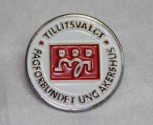 Pin for tillitsvalgte i Fagforbundet ung i Akershus