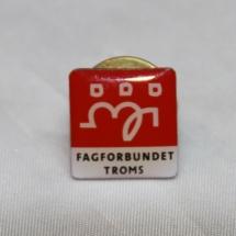 Fagforbundet medlemspin fra Troms (gitt av Gerd Kristiansen)