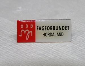 Fagforbundet medlems pin fra Hordaland (gitt av Gerd Kristiansen)