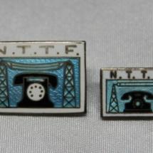 Norsk Telegraf- og Telefonforbund/Norsk Tele Tjeneste Forbund merke (etablert i 1930) gikk inn i TD 1988 versjon stor og liten versjon