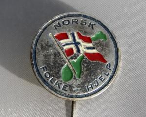 Norsk Folkehjelp nål 50 - 60 tallet