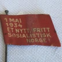 1 mai merke 1934 forside. Merke ligger i samlingen til M. Østby