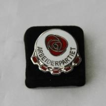 Arbeiderpartiet sølv pins