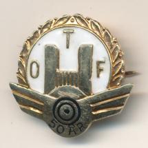 Oslo transport arbeiderforening 50 års nål i Gull (merke ligger i Maicel Antonsen sin samling)