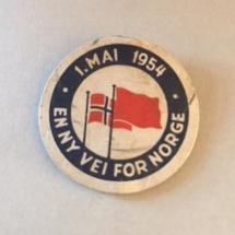 1 mai 1954 NKP (merke ligger i J.O. Havdal sin samling)