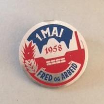 1 mai 1958 NKP (merke ligger i J.O. Havdal sin samling)