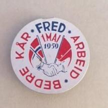 1 mai 1959 NKP (merke ligger i J.O. Havdal sin samling)