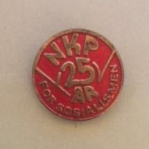 NKP 25 år (merke ligger i J.O. Havdal sin samling)