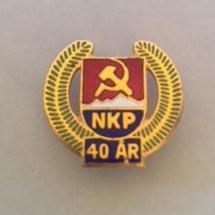 NKP 40 år (merke ligger i J.O. Havdal sin samling)