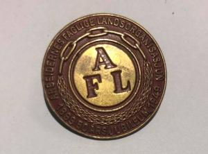 Arbeidernes faglige landsorganisasjon (nå LO) Jubileumsmerke 50 år 1899 til 1949 (ligger i samlingen til J.O. Havdal)