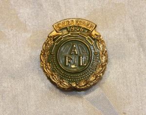 Arbeidernes faglige landsorganisasjon (nå LO) Kongressmerke 1946