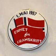 1 mai 1957 NKP (merke ligger i J.O. Havdal sin samling)