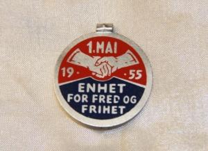1 mai 1955 NKP (merke ligger i J.O. Havdal sin samling)