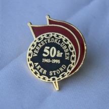 Jubileums pin 50 år Verkstedklubben Aker Stord 1945 1995